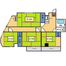 *和室60平米(和室4間)・キッチンなし間取りnew