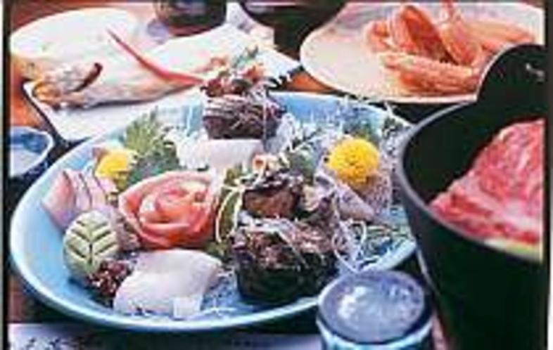 料理例海の幸(一例)