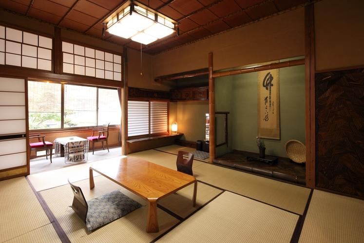 【客室一例】わずか全9室の客室は、6帖ー14帖と広さや趣が様々
