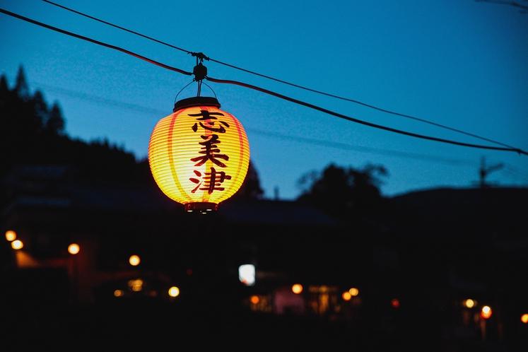 【湯平の赤提灯】今では湯平温泉の代名詞にもなりつつある赤提灯