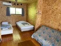 コテージ部屋 延べ面積33平米6畳2間お風呂トイレ完備!