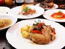 信州地鶏を使ったお料理