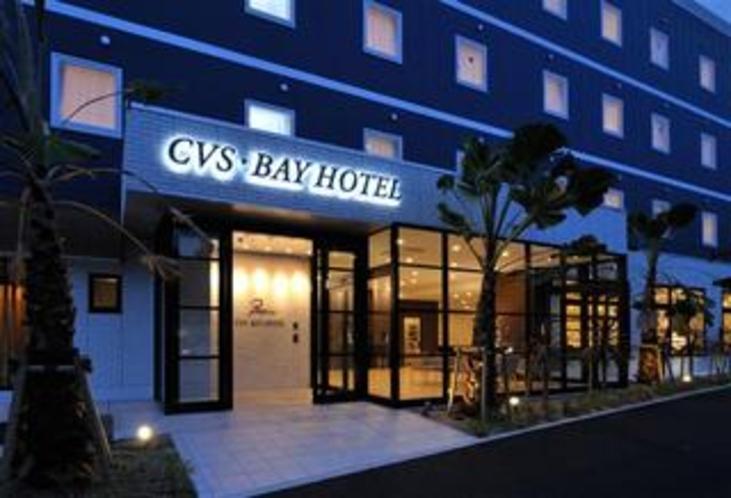 ホテル入口(夕景)