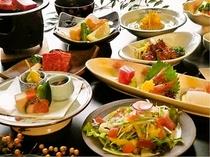 当館自慢の懐石料理の1例
