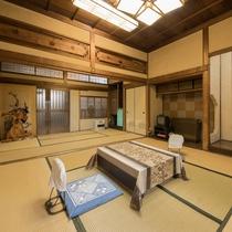 *【客室一例:梅】8畳+6畳の広々とした和室です。
