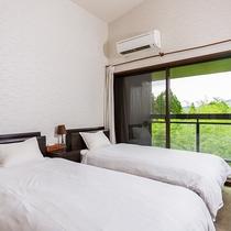 ●由布岳の見える展望室【洋室】 ベッドルーム