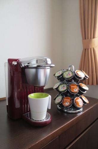 アップグレード客室に設置。キューリグコーヒーマシン。