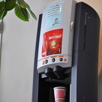 ロビーにてコーヒーサービス