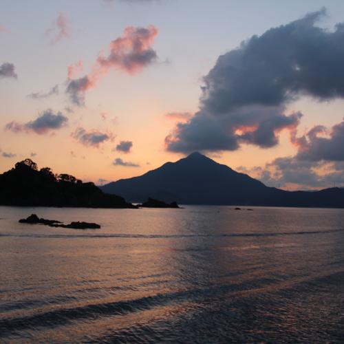 ★青葉山の夕日