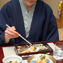 *【夕食一例】皿の上の一期一会