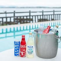 *【ドリンク】江の島サイダーやスポーツドリンクなどご用意しております。(有料)