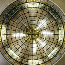 *【岩本楼ローマ風呂】聖堂を思わせる光のドームは、まるで天井の世界に包み込まれるよう。
