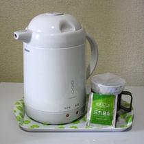 深蒸し緑茶ティーパックを本物のウェルカムドリンクとしてご賞味ください。