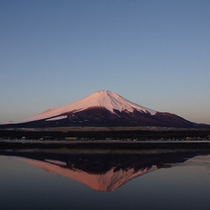 春の逆さ富士