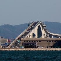 【江島大橋】当園より43km!CMで一時期話題になりました♪