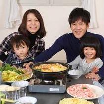 【お鍋】お部屋でお食事が楽しめます♪