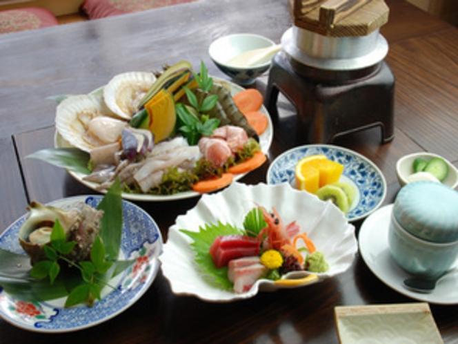 海鮮BBQ 夕食