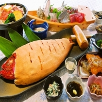 ■金目鯛の塩釜会席