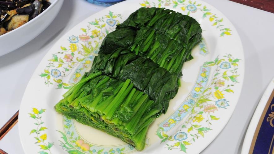 【朝食】ほうれん草のおひたし