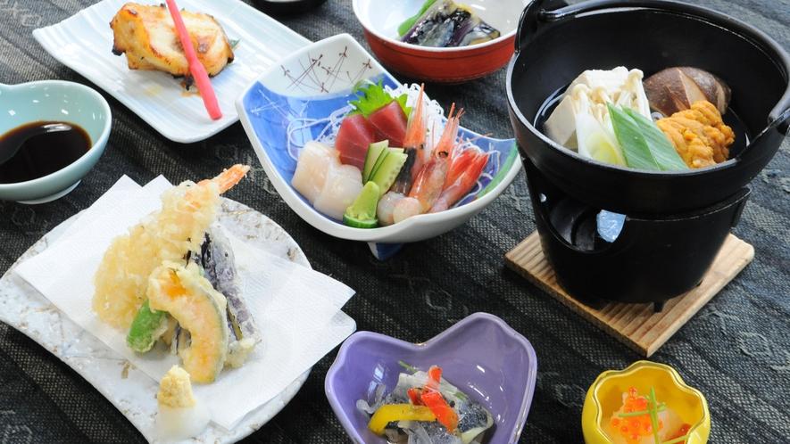 【夕食】新鮮な海の幸※時期によりお食事内容は変わります
