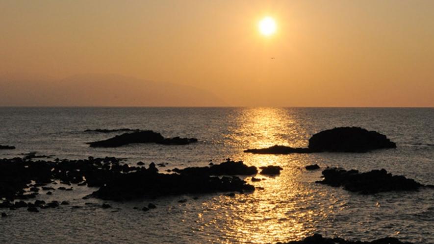 【観光】夕日のビュースポットです