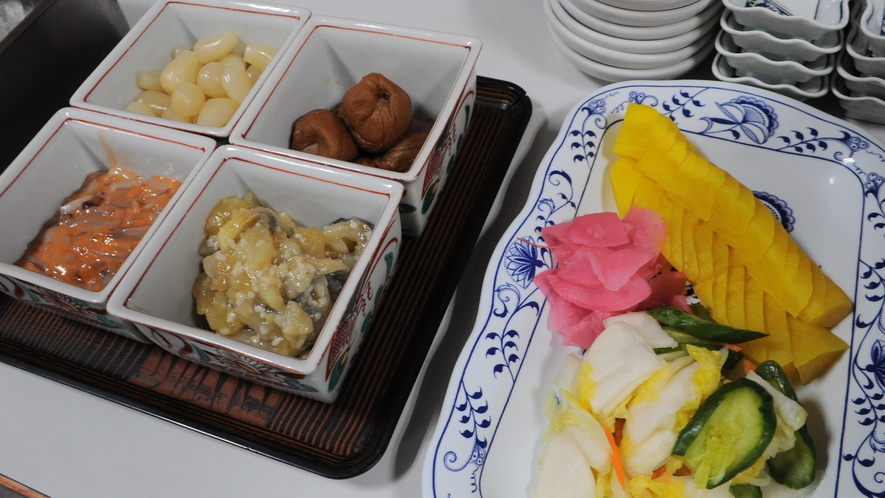 【朝食】漬物