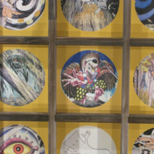 大山寺円流院の妖怪天井