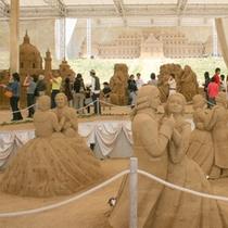鳥取砂丘(サンドパルとっとり)の砂像