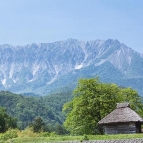 写メラリースポット3 茅葺小屋と大山