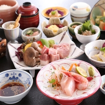 四季菜膳~夏~  メイン2種 :お造り・台物