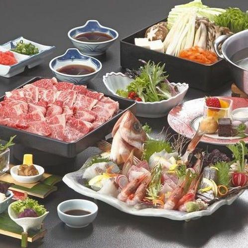 (9月ご提供のご夕食)ブランド和牛と地魚の姿盛りを楽しむ♪