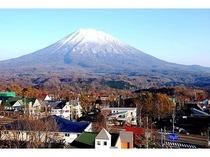 季節:秋の羊蹄山