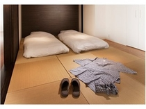 和室付きのお部屋 琉球畳を用いた高級感漂う畳部屋(一例)