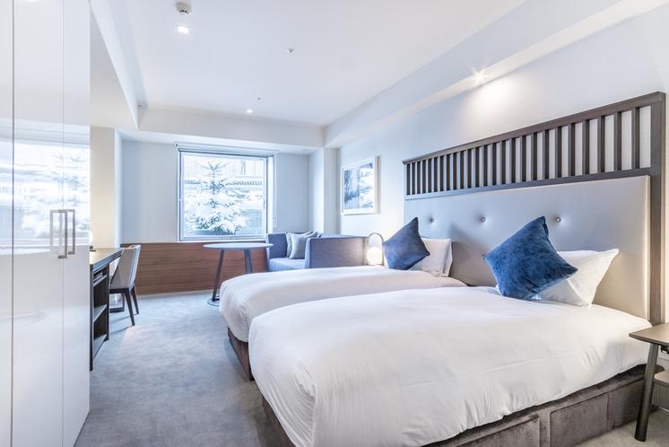ホテルルーム・ツインベッド