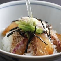 「鯛しゃぶ鍋コース」〆、鯛茶漬け