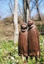 小さな木彫 「二人」
