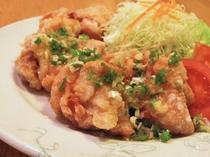 【夕食一例】鶏の唐揚げネギソース