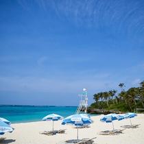 青い海と白い砂浜を思う存分楽しんでください