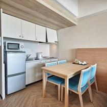 キッチン付きのお部屋もございます。ご希望の場合はお問い合わせください。