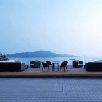 【鳥羽国際ホテル】テラスからは鳥羽湾を一望できます