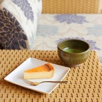 チーズケーキ&抹茶