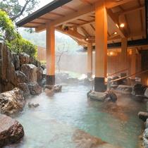 庭園露天風呂(昼)
