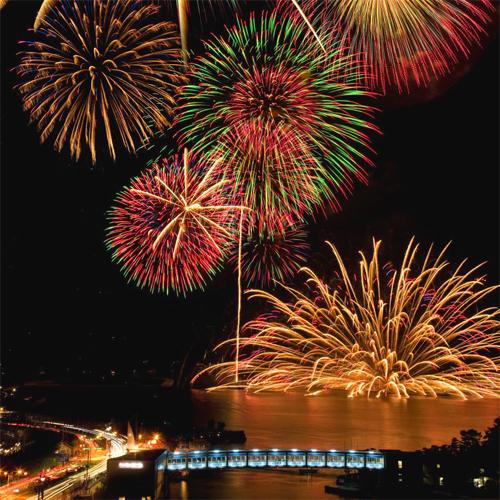 毎年7月に行われる鳥羽の花火は、敷地内より存分にお楽しみいただけます。