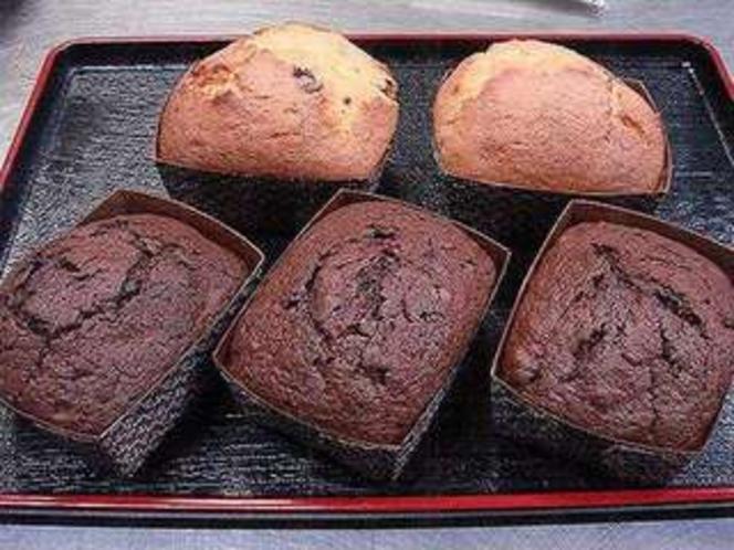 手作りのパウンドケーキ