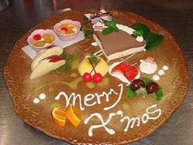 クリスマスには特別デザートで!!