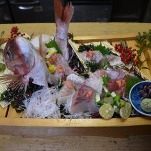 鯛の船盛り(一例)