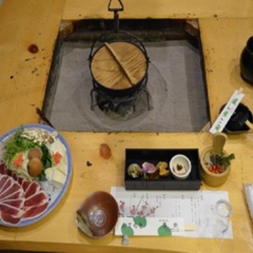 真鴨鍋のコース