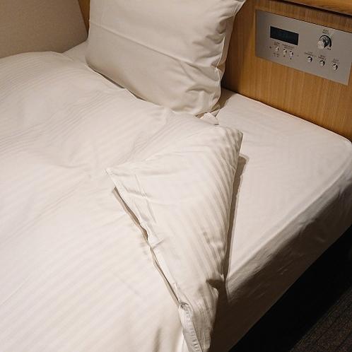 【全客室】デュベカバー使用。毎日洗い立てのカバーとシーツで気持ち良くお休みいただけます☆