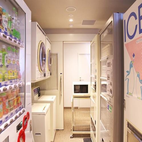 【3Fフロア】自動販売機・製氷機・電子レンジ・コインランドリー設置(24時間利用可能)