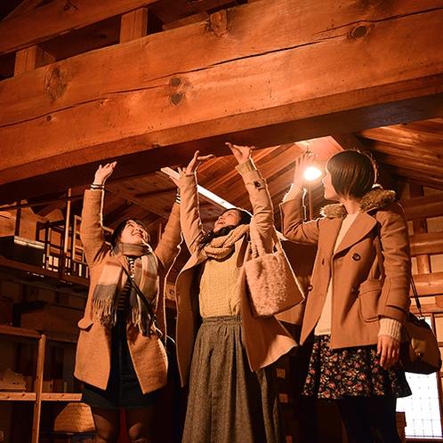 【横手市増田】豪華な「内蔵」の梁 豪華な「内蔵」が建物の中に大切に残っております。